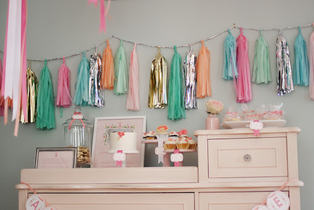 summer sip n see baby shower via Kara's Party Ideas KarasPartyIdeas.com