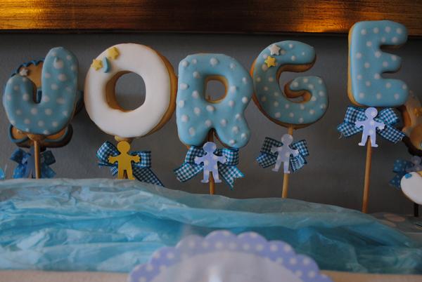Sol de Nata: Mesa de dulces para el bautizo de Jorge. El Bautizo azul