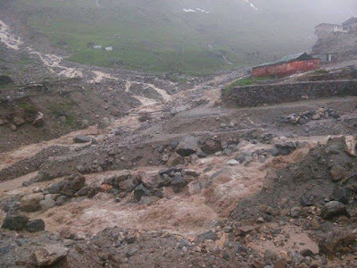 overflow in Saraswati river in Kedarnath