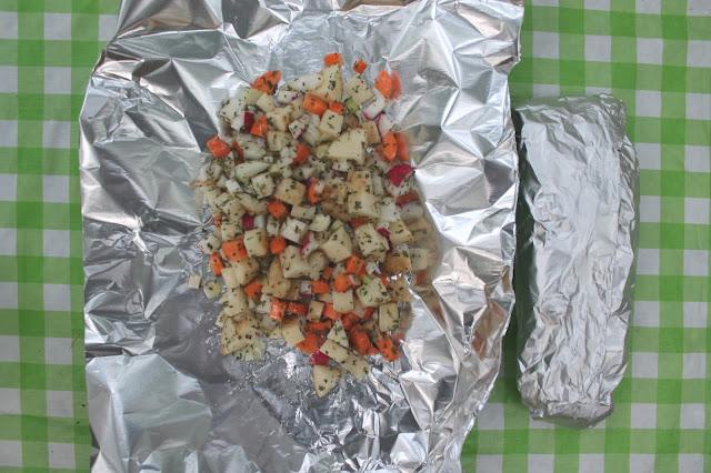 fire roasted foil potatoes [bon echo]