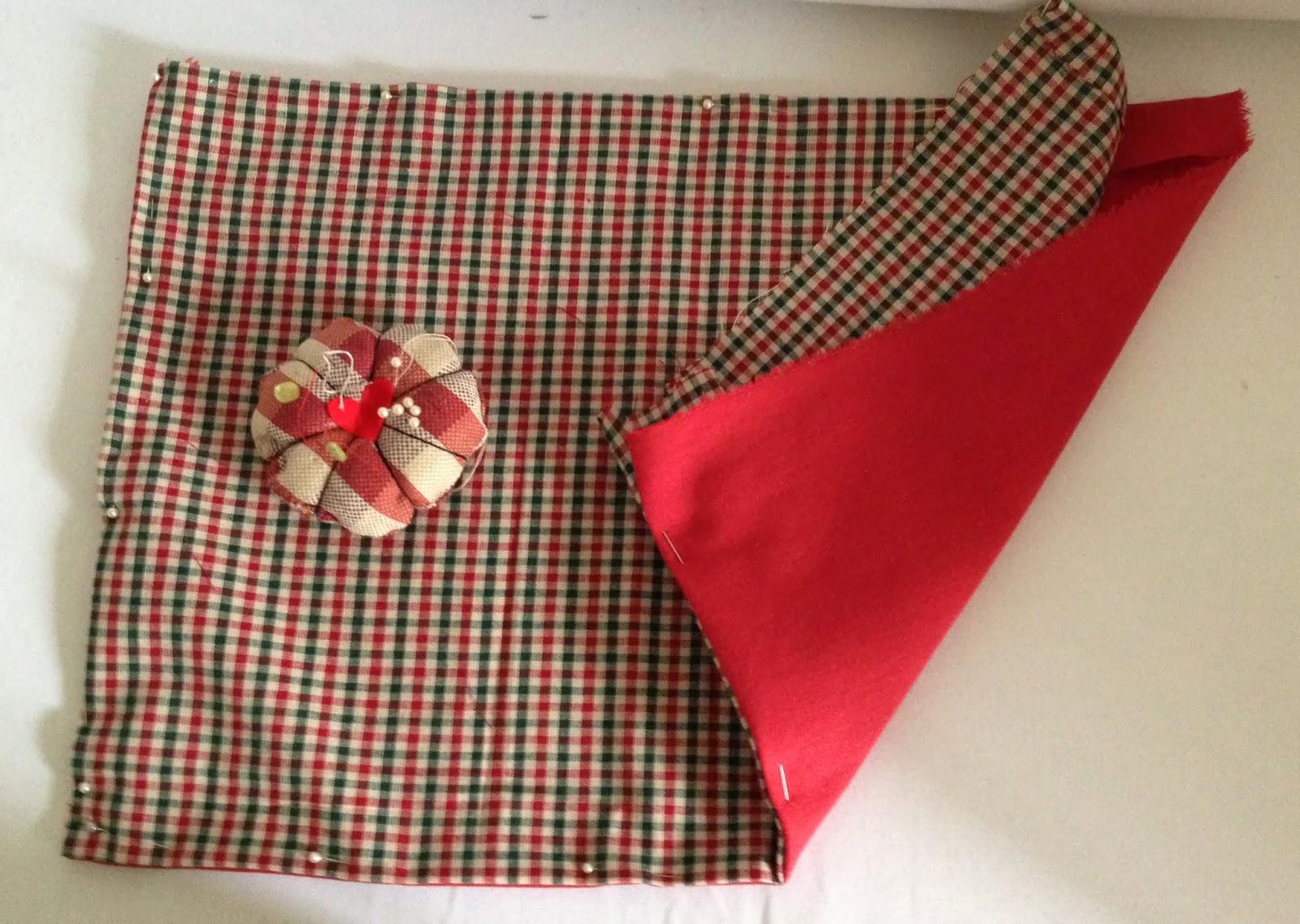 Handmade christmas 12 manteles individuales fanny at home for Manteles individuales de tela
