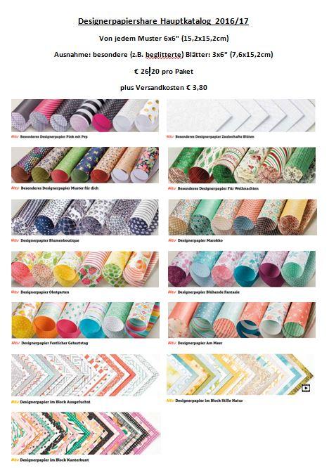 Designerpapier- und Bändershare