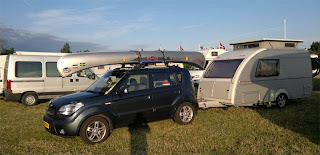 A nice small caravan with flip top