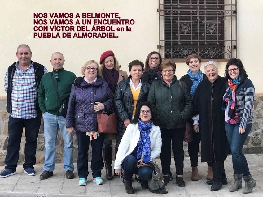 VIAJE A BELMONTE. ENCUENTRO CON VÍCTOR DEL ÁRBOL, ALMORADIEL LEE, CLUB DE LECTURA, 11/11/2017