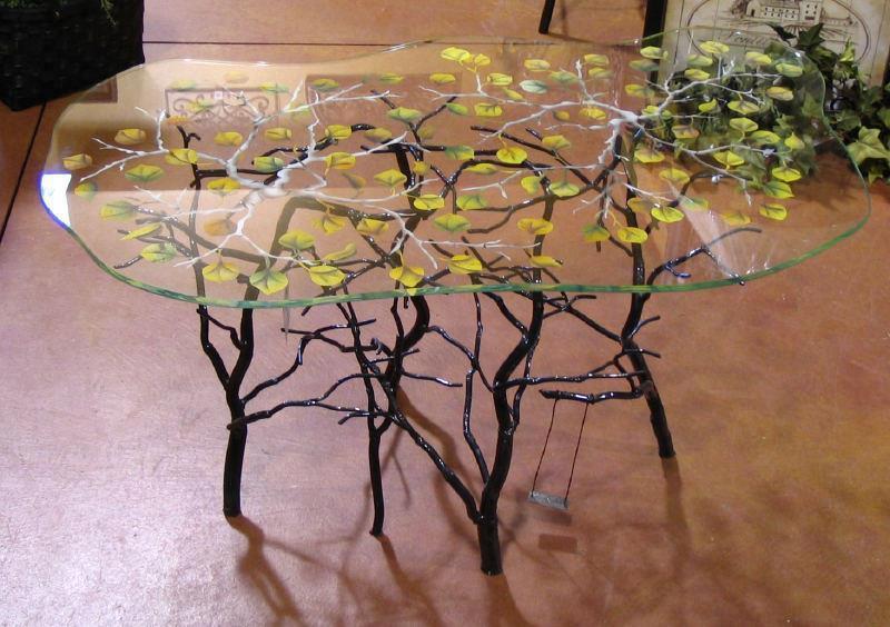 Mis puntadas preferidas reciclado con ramas y troncos de for Mesas de troncos de arboles