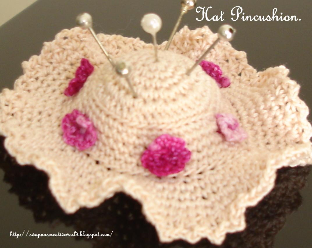 My World Of Stitching Hat Pincushion