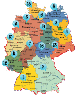 germany map with numbers
