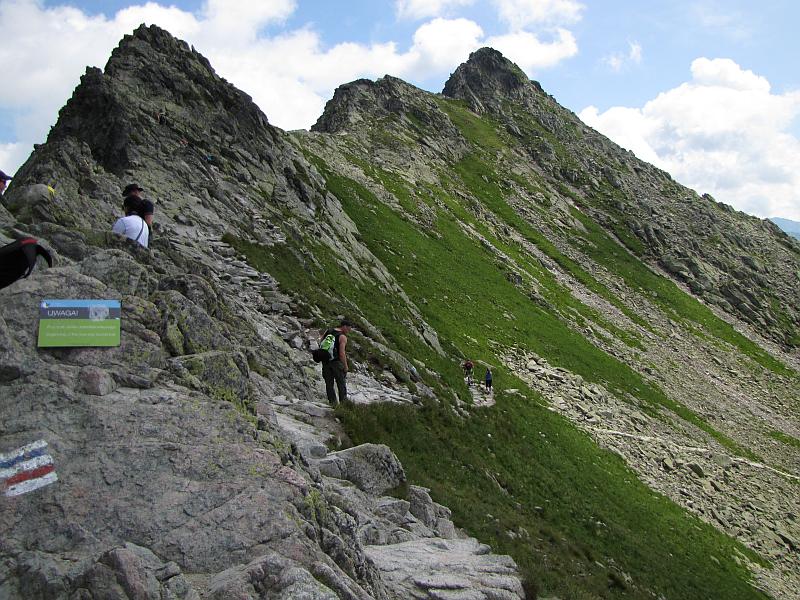 Szlak z Zawratu na Mały Kozi Wierch.