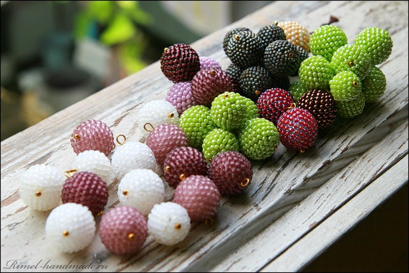 raspberries beadwork
