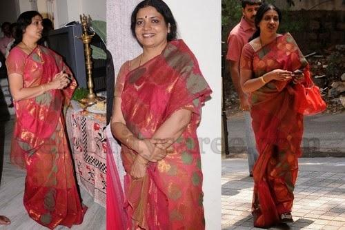 Jeevitha Cottom Mixed Chanderi Saree