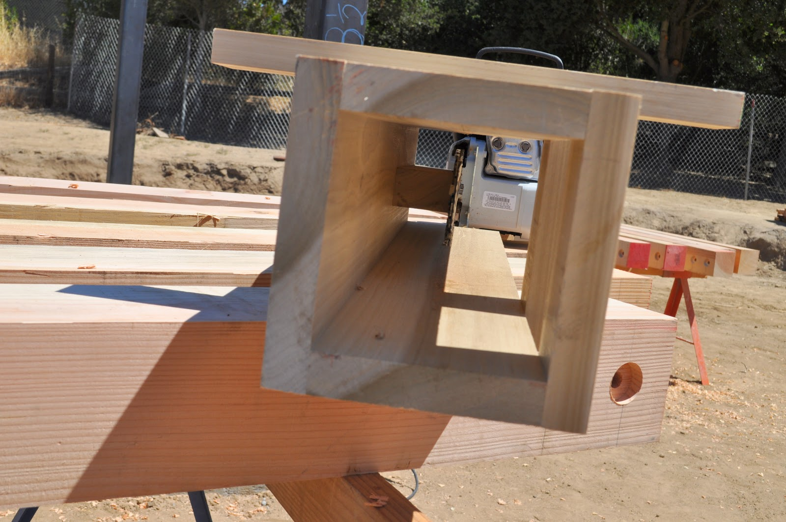 how to cut dovetails on squared timbers
