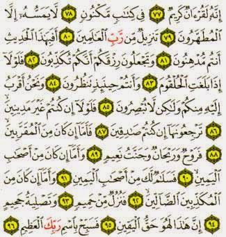 Amalan Melancarkan Rezeki Dengan Surat Al Waqiah