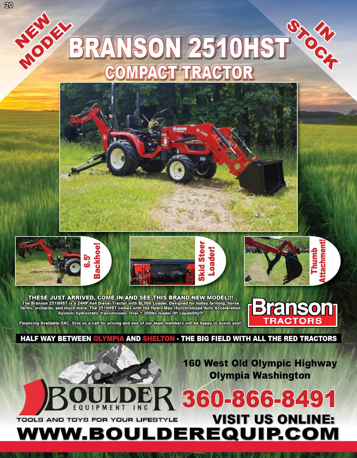 Boulder Equipment Branson Tractor Sale!!