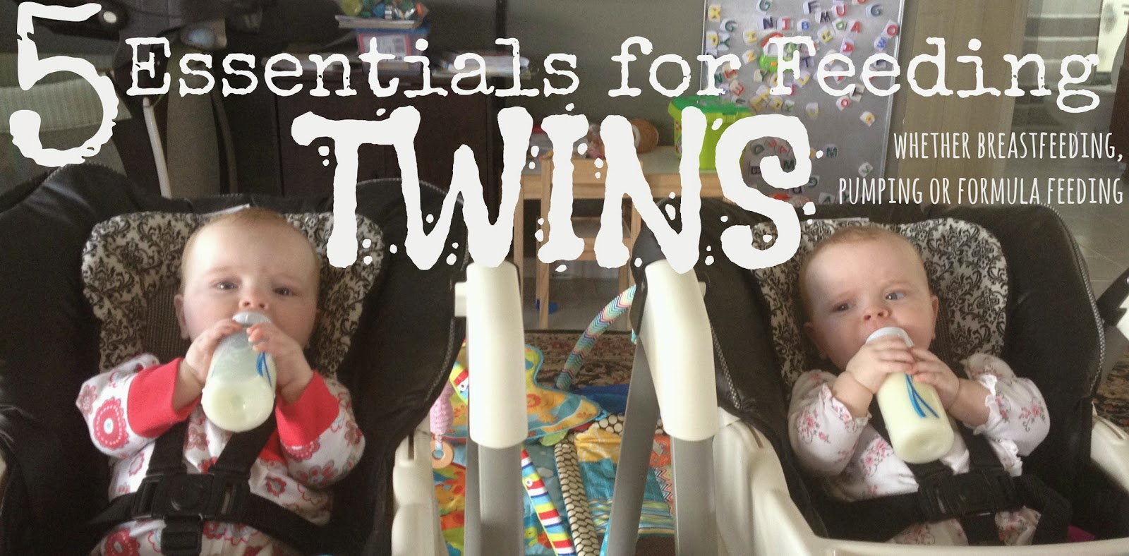 #GIVEAWAY 5 Essentials for Feeding Twins... or any baby for that matter... (whether breastfeeding, pumping, or formula feeding)
