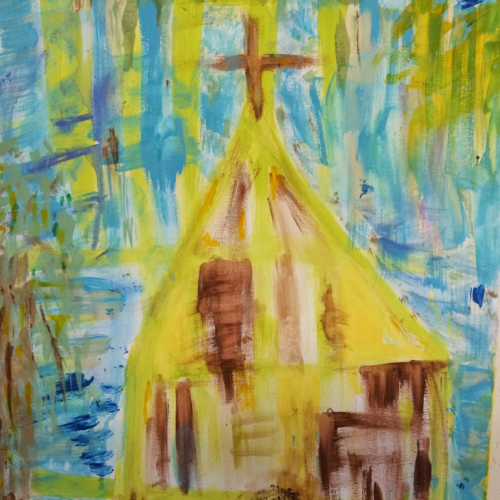 "Church  18"" by 24""  $500,000"