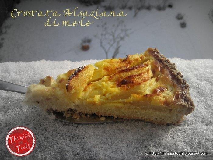 crostata alsaziana alle mele - alsatian apple tart