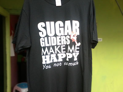 Sablon Kaos Sugar Glider Make Me Happy! You, Not So Much depan