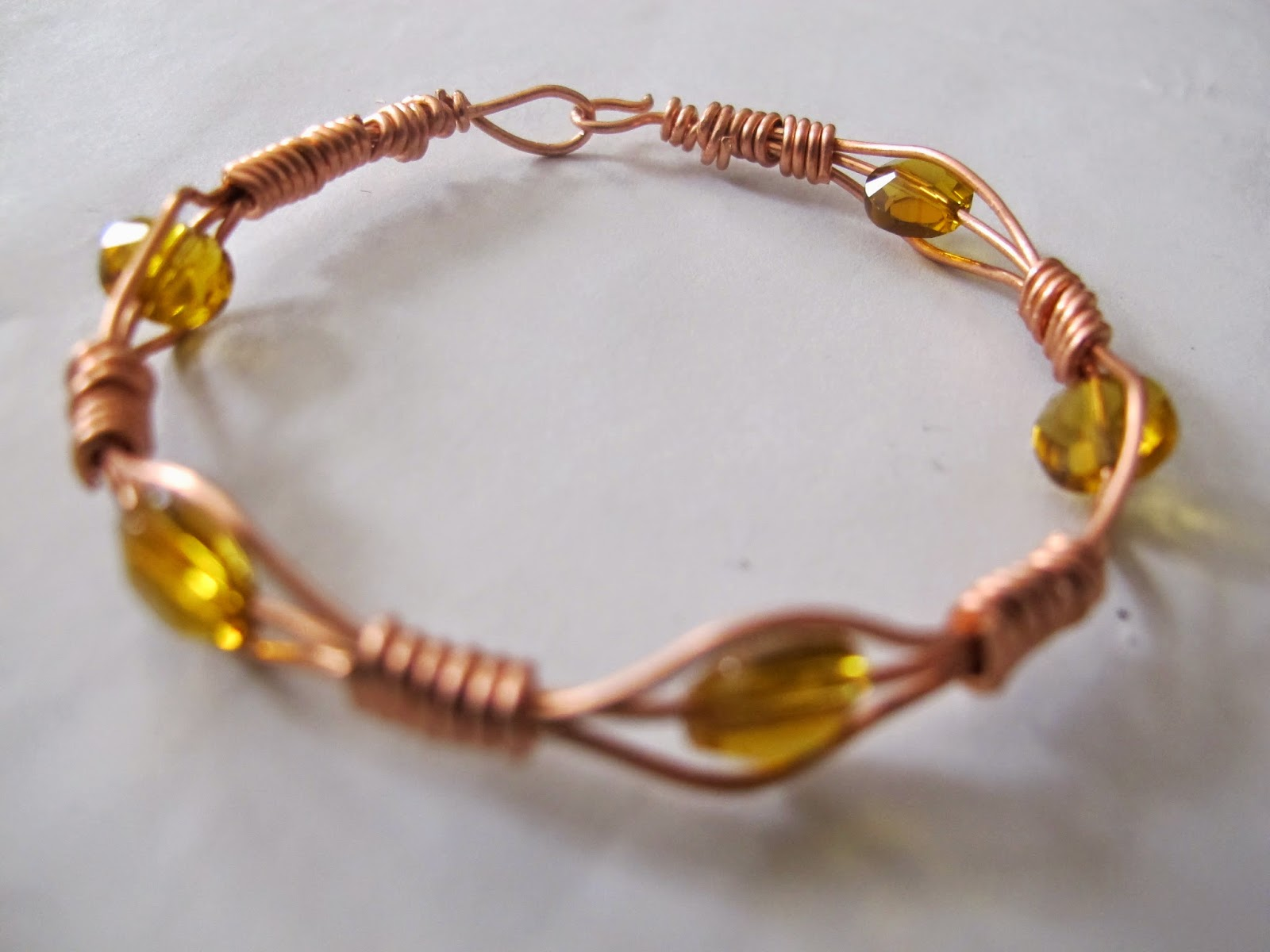 Naomi\'s Designs: Handmade Wire Jewelry: Copper wire wrapped bangle ...