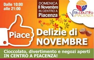 Delizie di Novembre 8 Novembre Piacenza