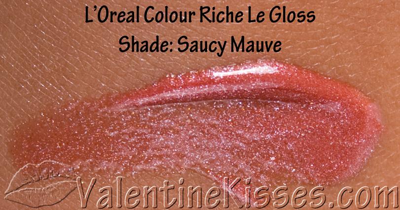 L'oreal Colour Riche Lipstick Saucy Mauve L'oreal Colour Riche le Gloss