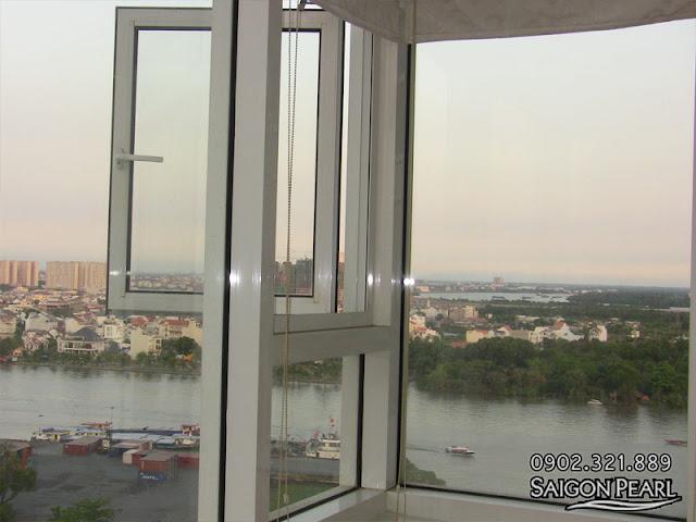 Cho thuê căn hộ 86m2 tòa nhà Ruby 2 | cửa view sông SG và Quận 2