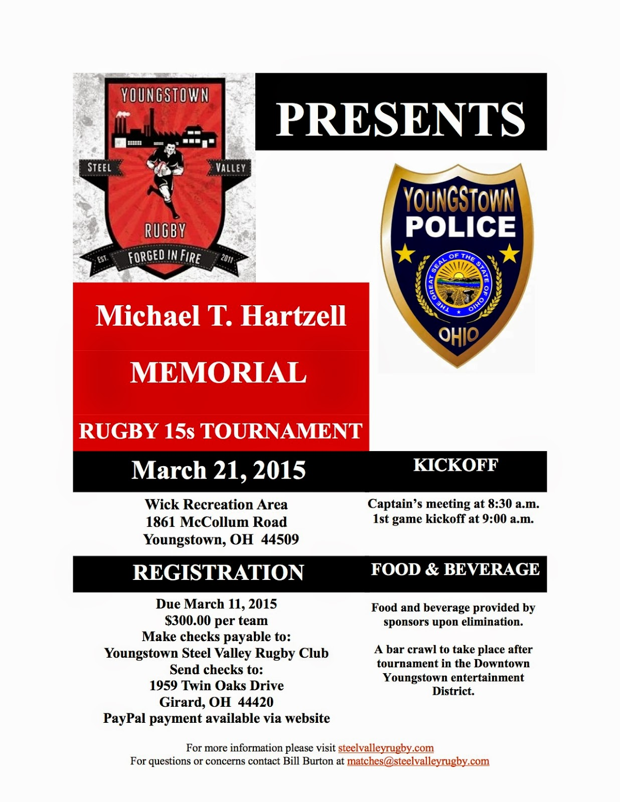 Advertisement for the Michael T. Hertzell Memorial Tournament