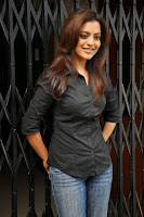 Nisha Aggarwal in Spicy Tight Short Black Shirt and Denim Jeans Lovely Pics