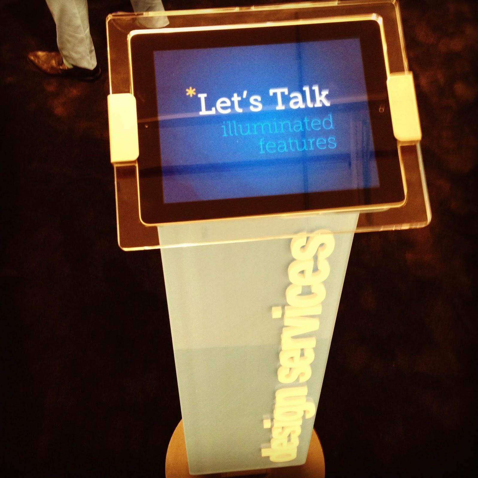 interactive iPad display at a trade show