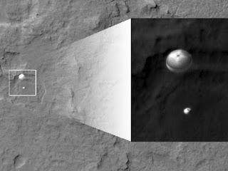 Приземление марсохода Curiosity