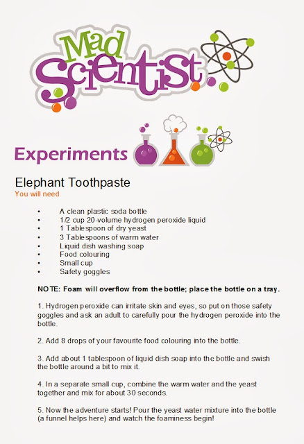 how to make an elephant toothpaste