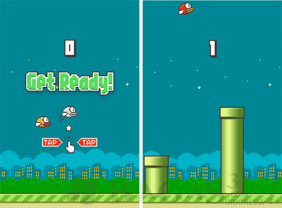 Download Flappy Bird Tanpa Pipa Atas Mod APK