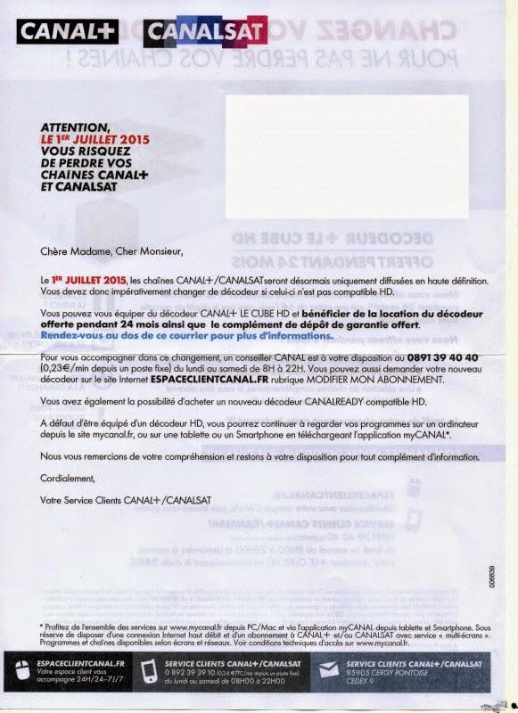 """CanalSat en """"toutHD"""" le 1er juillet 2015 !"""