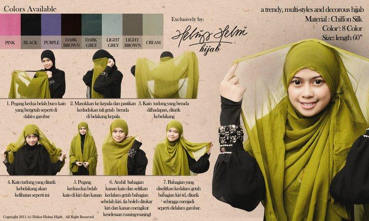 Cara pemakaian shawl labuh dari Heliza Helmi hijab | ! Love Is ...