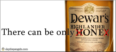 Dewar's Highlander Honey - Only One Ad - © 2013 slapthepenguin.com