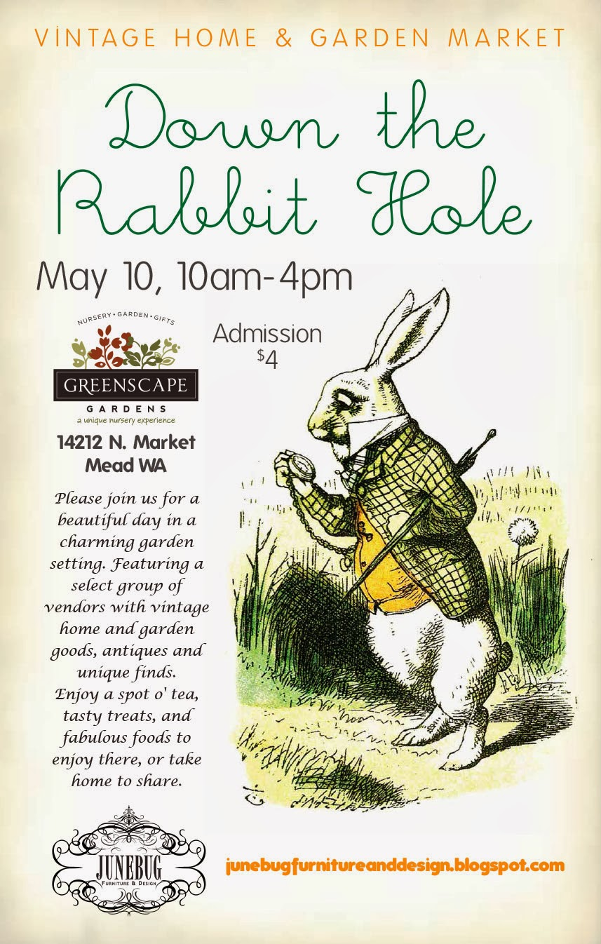 DOWN THE RABBIT HOLE ~ VINTAGE HOME & GARDEN MARKET  ~ 2014