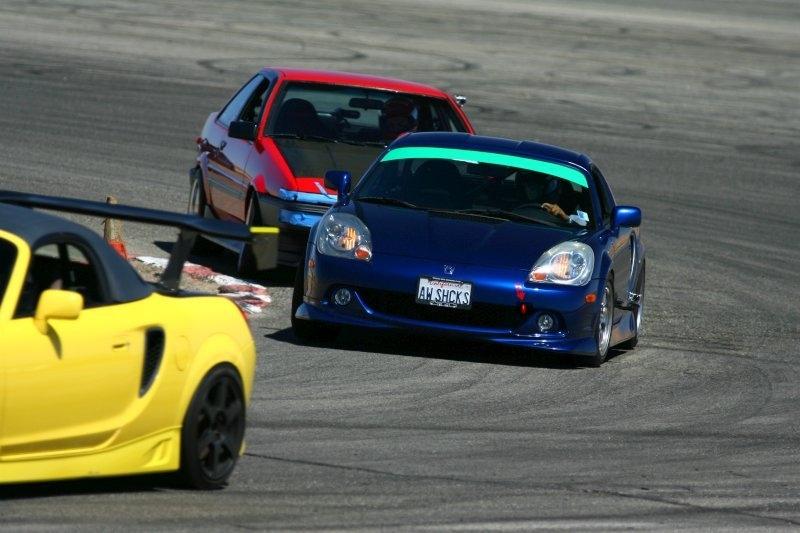Toyota MR2, roadster, MR-S, MK3, ZZW30, wyścigi, sport, tor wyścigowy, japońskie, rywalizacja, zawody samochodowe