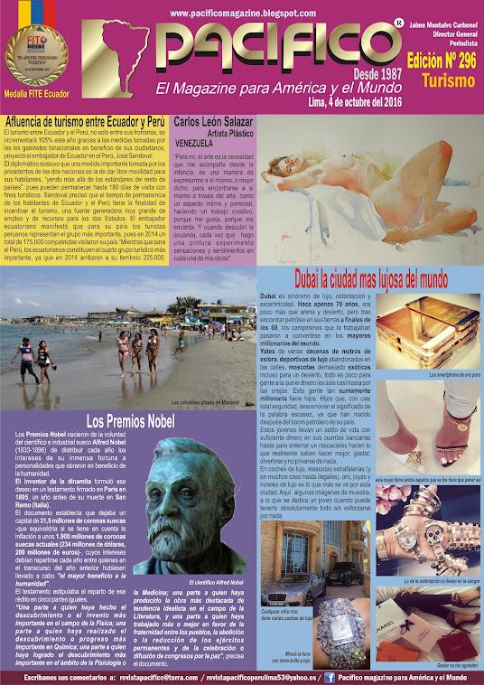 Revista Pacífico Nº 296 Turismo