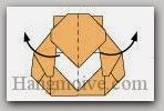 Bước 16: Gấp nghiêng một góc để tạo độ cong.