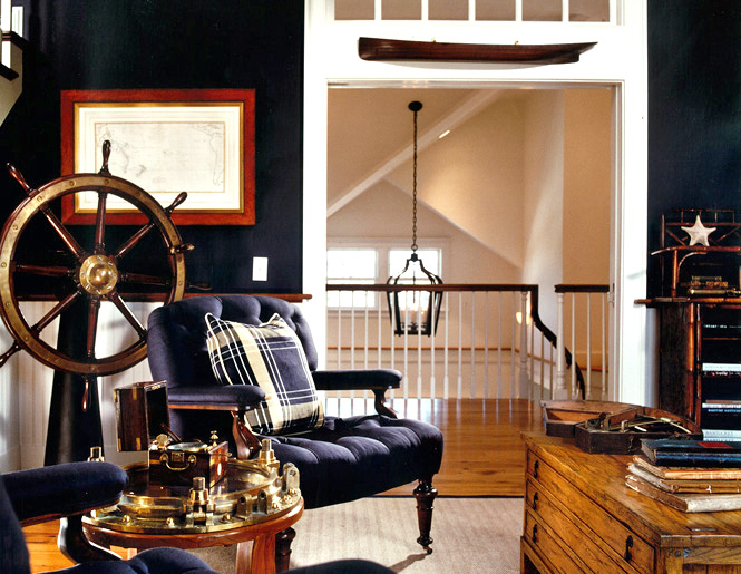 High Quality Ship Wheel And Nautical Accent Decorating Via Dujardindesign