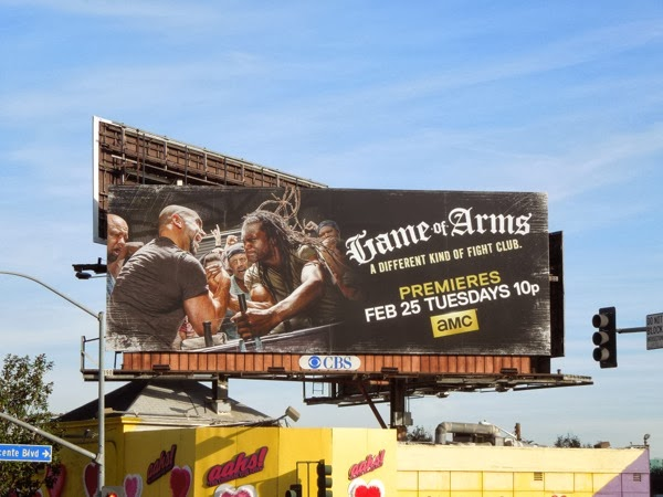 Game of Arms series launch billboard