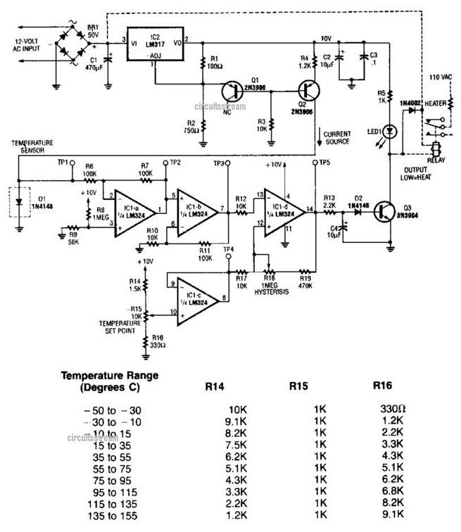 Temperature Sensor Circuit Diagram