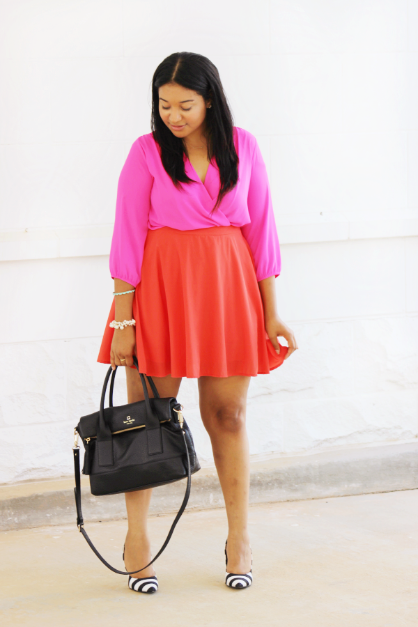 Pink & Orange Outfit Combo