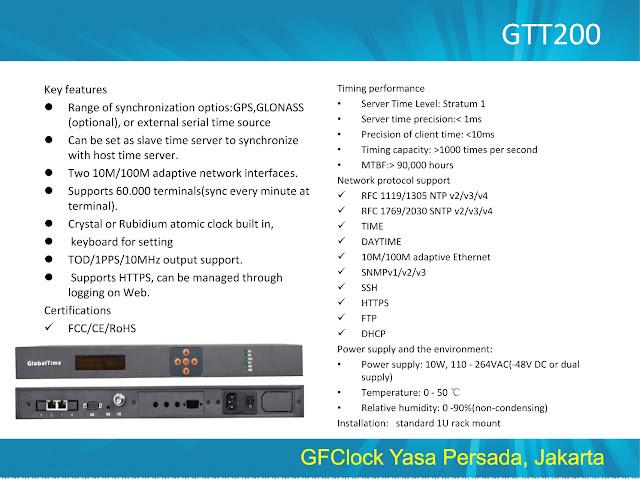 NTP Master Clock Server GTT200