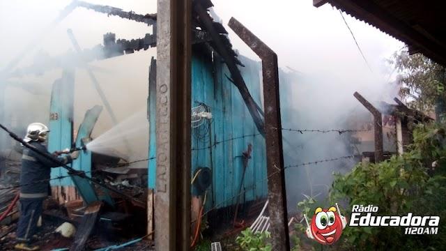Incêndio mata mãe e filha no Santo Antonio de Pádua em Laranjeiras do Sul