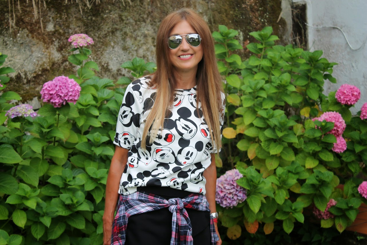 T-Shirt, Mickey Mouse, Posada Mellante, Pechón, Cantabria, Travel, Summer, Look, Street Style, Fashion Style, Carmen Hummer, Blog de Moda