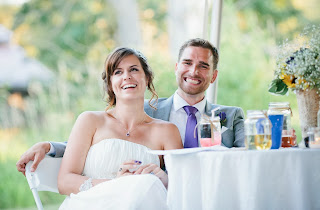 Caitlin and Ben relax after their ceremony.  Patricia Stimac, Seattle Wedding Officiants