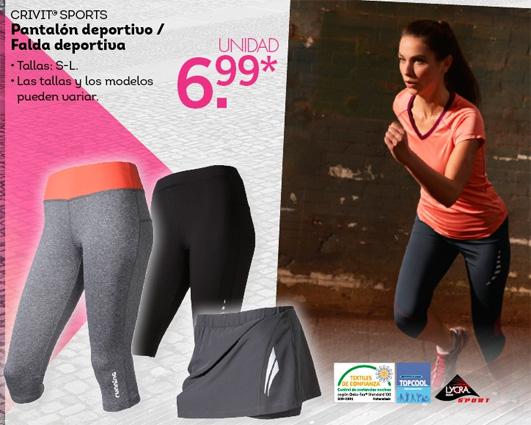 pantalones y faldas deportiva mujer Lidl ropa fitness