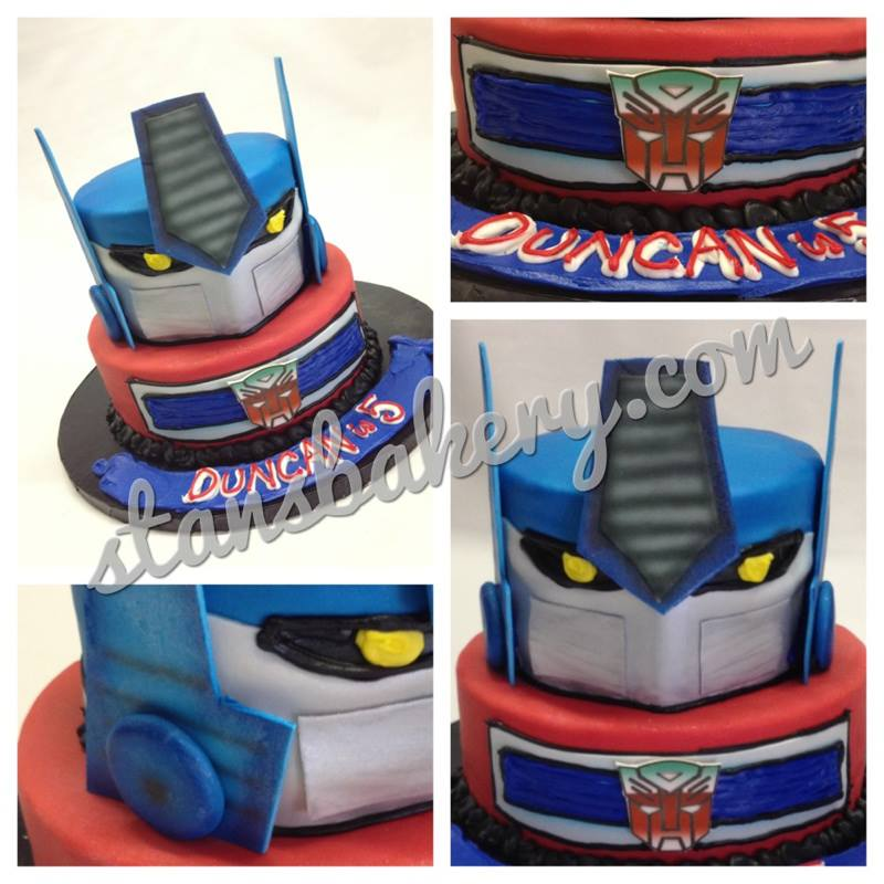 Leslies Cool Cakes from Stans Northfield Bakery Transformer Cake