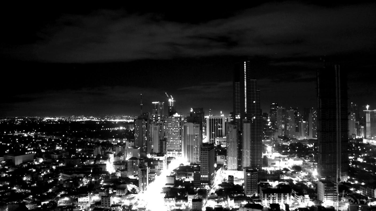 Manila Cityscape aerial view Philippines