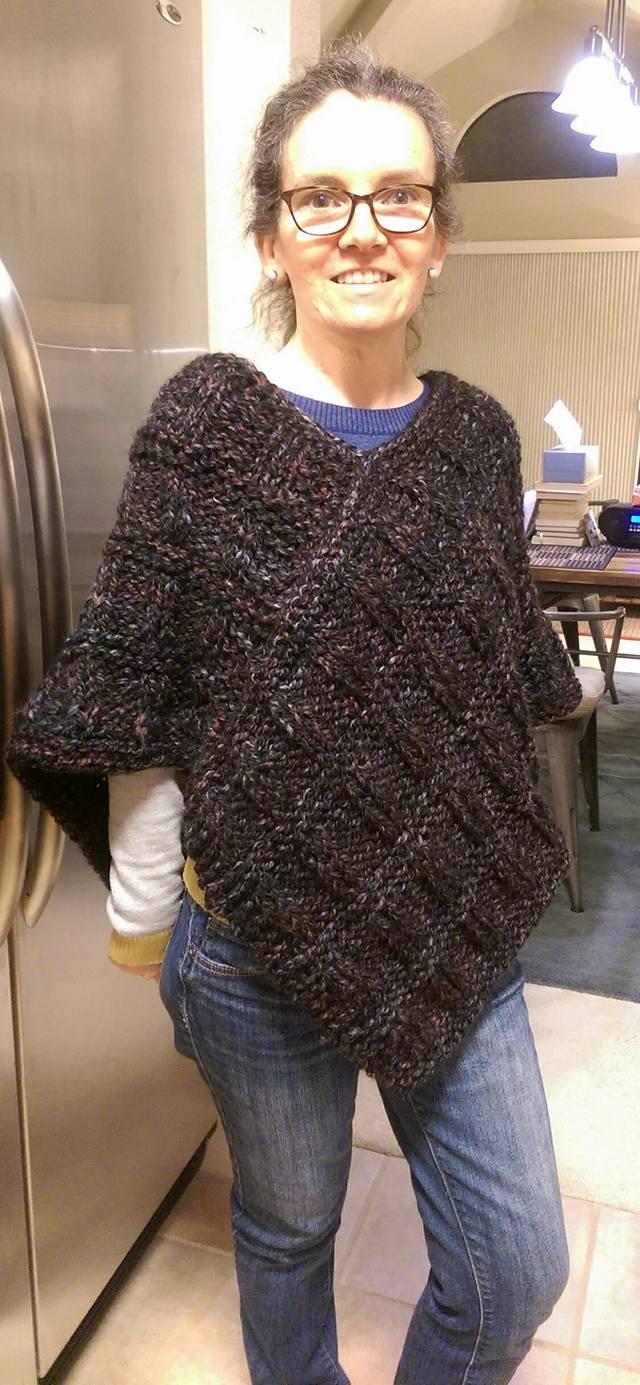 My Knitting Journey, One Stitch At A Time!: Newsprint Poncho ...
